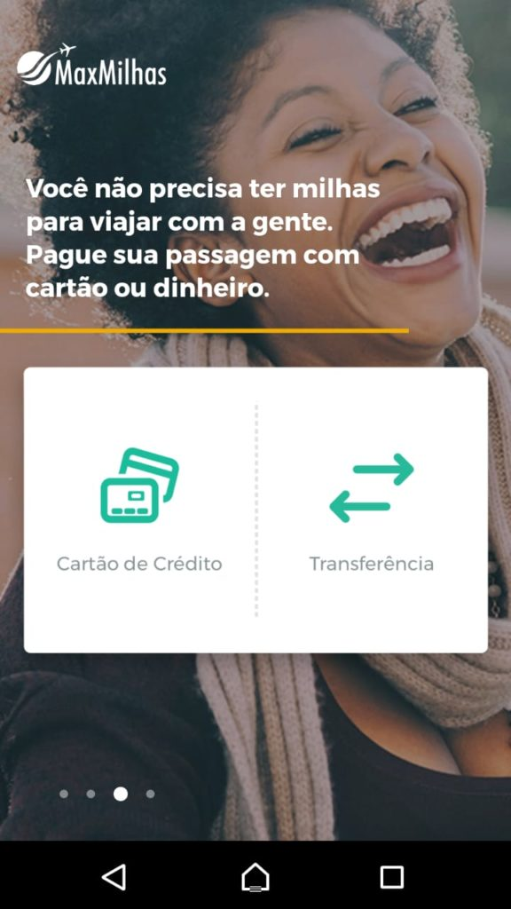App Android MaxMilhas: Passo 2