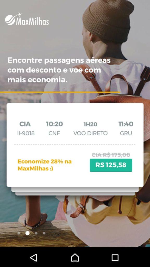 App Android MaxMilhas: Passo 3
